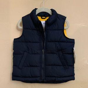 New old navy fleece lined puffer vest